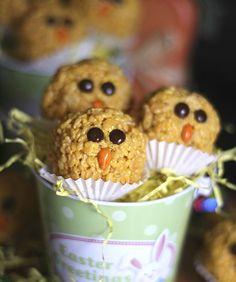 Krispie Treat Chicks for Easter