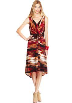 RABBIT RABBIT RABBIT Orange Sleeveless V-Neck Dress