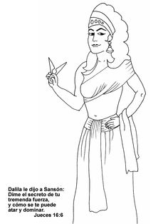 samson and delilah free coloring pages buscar con google - Samson Delilah Coloring Pages