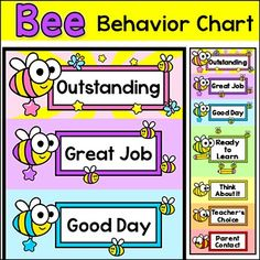 Bee Theme Classroom Decor Bundle Name Tags Word Wall Teachers Binder Etc