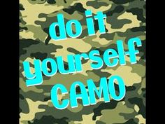 How To Paint Camo, A Dime, Everyday Items, Camouflage, Fun Stuff, Craft Ideas, Make It Yourself, Tips, Youtube