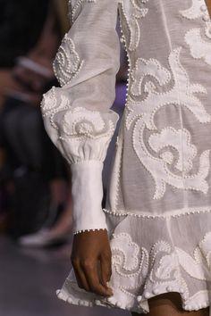 Zimmermann at New York Fashion Week Spring 2018 - Details Runway Photos Fashion Details, Love Fashion, Fashion Design, Sweet Fashion, Couture Fashion, Runway Fashion, Fabric Embellishment, New York Street Style, Knitted Coat