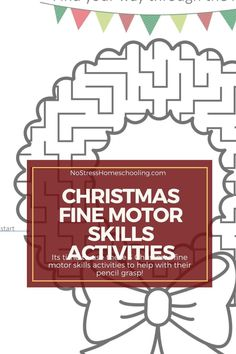 Its time to use these 3 Christmas fine motor skills activities to help with their pencil grasp!