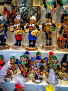 Figurines made of nuts and prunes are traditional in Nuremberg, Germany Christmas markets