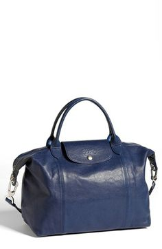 Leather Longchamp Le Pliage.