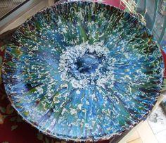 """Ceramica """"Medusa verde"""" diam. 50 anno 1992"""
