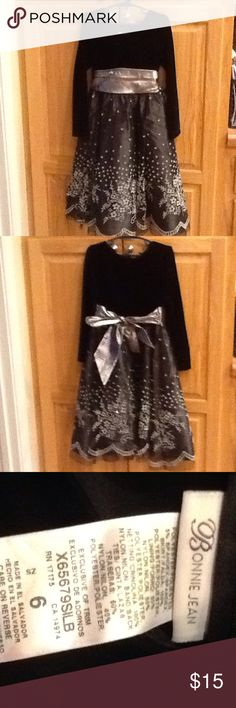 Bonnie Jean Dress Black Velvet at the top and Layered Bottom. Adorable Dress!!! Bonnie Jean Dresses Casual