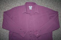 18 37/38 Kings' Court pink pocket cotton poly mens dress shirt solid 2XL 2X XXL #KingsCourt