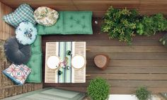 love the color of the cushions small balcony ideas