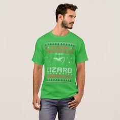 Warm Snuggles Lizard Cuddles Christmas Ugly Tshirt - merry christmas diy xmas present gift idea family holidays