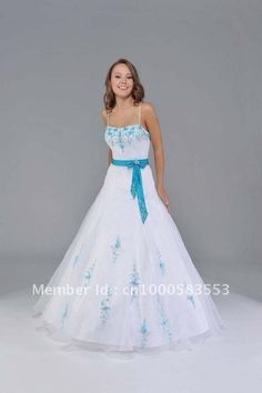 White and Blue Quinceanera Dresses Wedding Prom Party Ball Gown Dancewear J27049