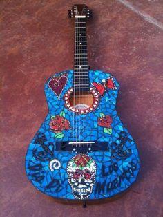 Mosaic Guitar www.mamakatzmosaics.com