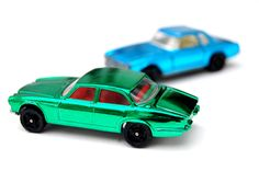 Vintage Toys Wanted by the-toy-exchange- Two vintage chrome Corgi Rockets models MERCEDES 280 S.L. and JAGUAR XJ6 Saloon.
