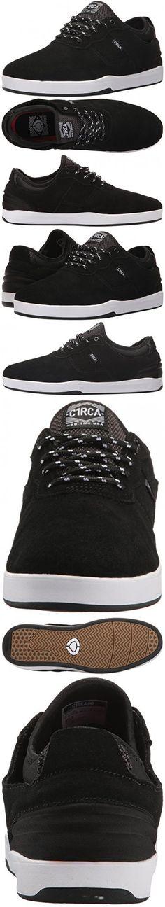 C1RCA Men's Salix Surefit Ultraflex Fusion Grip Skate Shoe, Black/White,  13.0 Medium