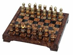 Medieval Chess Set Game Board Home Decor