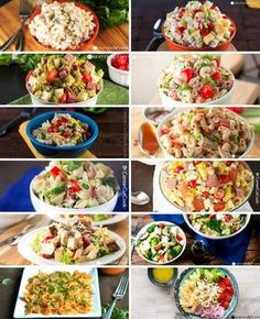 The most refreshing and best pasta salads. All of them go great with just about any barbecue!