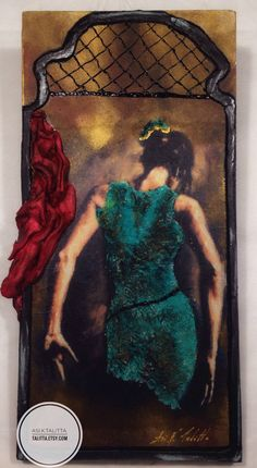 Latin dance rehearsal - handmade wall frame - mixed technique -gift for her by TALITTA on Etsy https://www.etsy.com/listing/587684293/latin-dance-rehearsal-handmade-wall