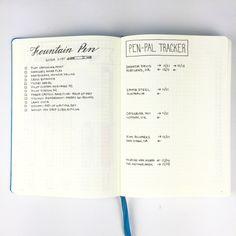 Bullet Journal - Fountain Pen Wish List & Pen Pal Tracker