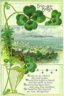 Erin-go-bragh! #vintage #St_Patricks_Day #card