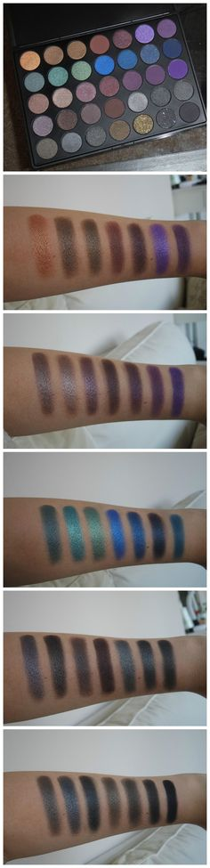 Morphe Brushes 35D - 35 COLOR DARK SMOKY PALETTE Review & Swatches!