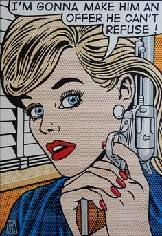 Malcolm Smith is an artist whose painting style derives from 1960s romance comics and incorporates bright, bold colours and techniques borrowed from the printing industry.
