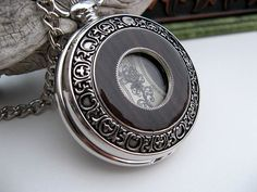 Pocket Watch, Silver and Wood Timeless Fashion Mechanical Pocket Watch, Pocket Watch Chain - Watch - Groom - Item MPW255 on Etsy, $48.00