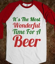 cce65db9 It's The Most Wonderful Time For A Beer | | Christmas Drinking Shirts |  SKREENED