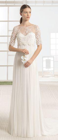 Fantastic Lace & Tulle Bateau Neckline A-Line Wedding Dresses With 3D Flowers & Beadings