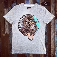 d3155130bf5 INDIAN WOLF - LIMITED EDITION - GREY T-SHIRT