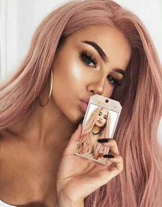 Rose Gold Hair Ideas 1311 – Tuku OKE #edgymakeuplooks