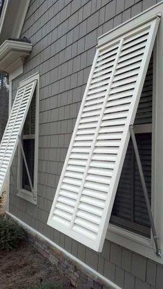 Bahama shutters capri style the great outdoors - Aluminum window shutters exterior ...