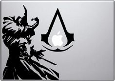 Assassin's Creed Decal - Assassin's Creed inspired Ezio Auditore decal for Macbooks, laptops, cars, windshields, etc.... $7.20, via Etsy.