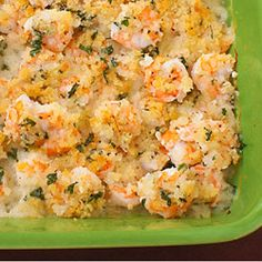 Easy Garlicky Baked Shrimp -- packed with great flavor and crunch!