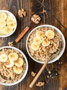 The best Slow Cooker Steel Cut Oats. This recipe cooks overnight, so in the morning, it's ready to eat!