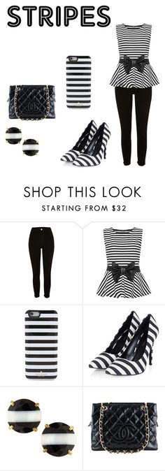 """Stripes"" by camilla-sjoeberg on Polyvore featuring WearAll, Kate Spade and Chanel"