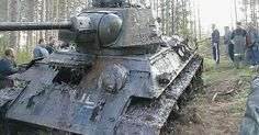 Amazingly Preserved T-34 Tank With German Markings Pulled From Bog After 60 years! (Watch)