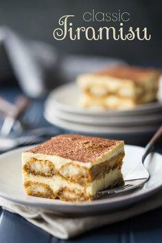 This is my FAVORITE Tiramisu recipe! So airy, light, and rich, with the perfect balance of flavors. I make it all the time and everyone always loves it! ~ Baking a Moment Original Tiramisu Recipe, Authentic Tiramisu Recipe, Classic Tiramisu Recipe, Homemade Tiramisu, Best Dessert Recipes, Cupcake Recipes, Fun Desserts, Puddings, The Originals