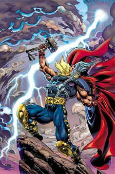 thor and the bifrost   Thor - God of Thunder!