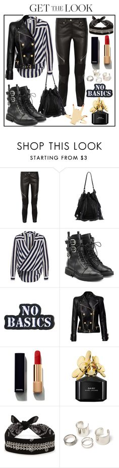 """Rocker Chic"" by bapeii ❤ liked on Polyvore featuring Givenchy, Loeffler Randall, NLY Trend, Giuseppe Zanotti, Hollywood Mirror, Balmain, Chanel, Marc Jacobs, Fallon and rockerchic"