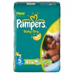 Pack 41 Couches Pampers Baby Dry de taille 5 sur Couches Zone