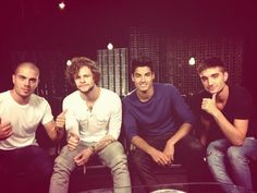 max george, jay mcguiness, siva kaneswaran, tom parker