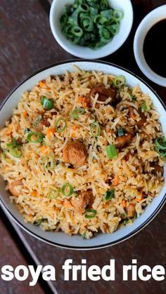 Soya Recipe, Chaat Recipe, Biryani Recipe, Soya Chunks Recipe, Veg Fried Rice Recipe Indian, Puri Recipes, Spicy Recipes, Cooking Recipes In Urdu, Vegan Recipes