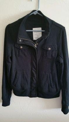 Aeropostale Black Bomber Jacket Large Lined in Clothing, Shoes & Accessories, Women's Clothing, Coats & Jackets | eBay