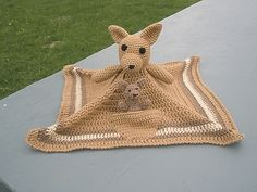 Ravelry: Kangaroo Lovey / Security Blanket with Bonus Joey Pattern pattern by Tammy Mehring