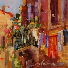 %22Line+Dancing+in+Venice%22%2C+painting+by+artist+Dreama+Tolle+Perry