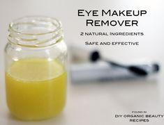 DIY Eye Makeup Remover 2 ingredients - natural - safe - effective