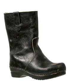 Take a look at the Black Leather Tessa Boot on #zulily today!