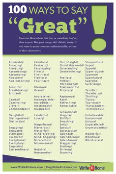 "100 Ways To Say ""Great""!"