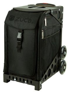 Zuca Stealth Sport Insert Bag (Black, Black Embroidery) With Black Non-Flashing-Wheels Sport Frame, 2015 Amazon Top Rated Ice Skating #Sports