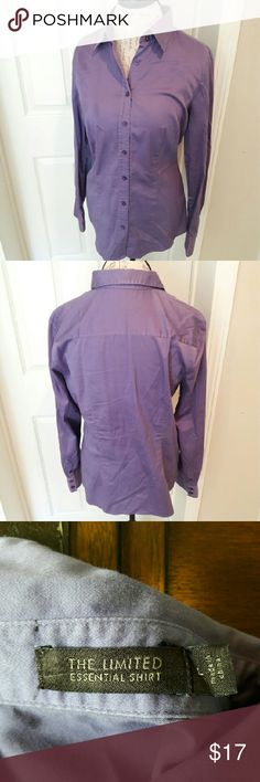 The Limited - purple dress shirt In perfect condition. Gorgeous button down shirt to pair with slacks or a skirt. Very soft material. True to size. From a smoke and pet free home. Fast shipping!  *No trades *Don't like the price? Make an offer *I take offers on bundles and single items The Limited Tops Button Down Shirts